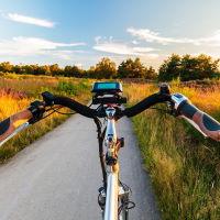 vrije tijd is fietsen