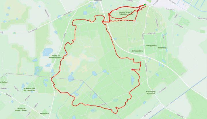 MTB route Appelscha en Appelscha-Bosberg