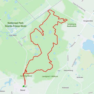 MTB route Diever - Hoogersmilde