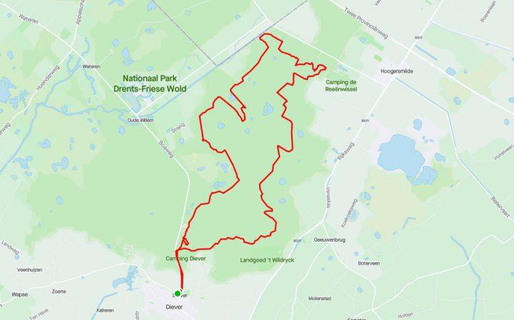 MTB route Diever – Hoogersmilde