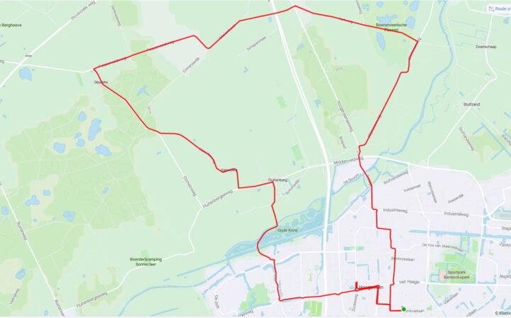 Fietsen ten noorden van Hoogeveen