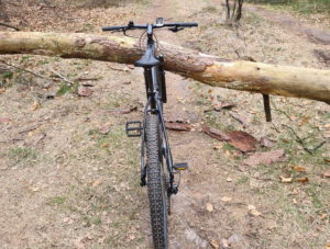 mountainbike onder boom