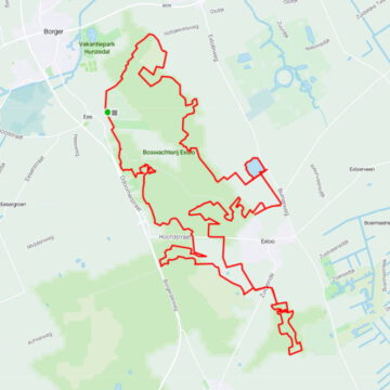 MTB route Exloo